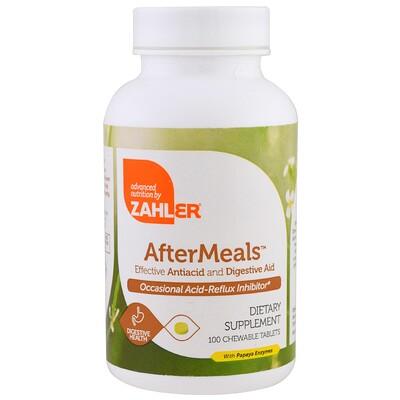 AfterMeals, эффективная антацидная и пищеварительная помощь, 100 жевательных таблеток