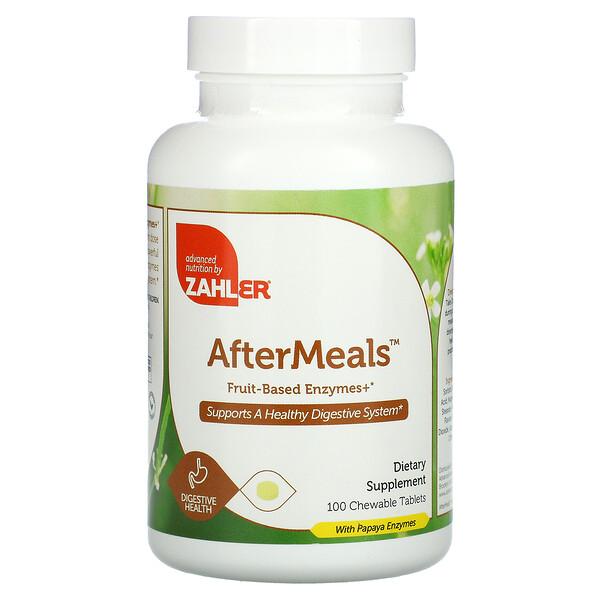 AfterMeals, фруктовые ферменты, 100жевательных таблеток