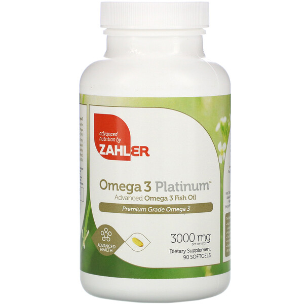 Omega 3 Platinum, Advanced Omega 3 Fish Oil, 3,000 mg, 90 Softgels