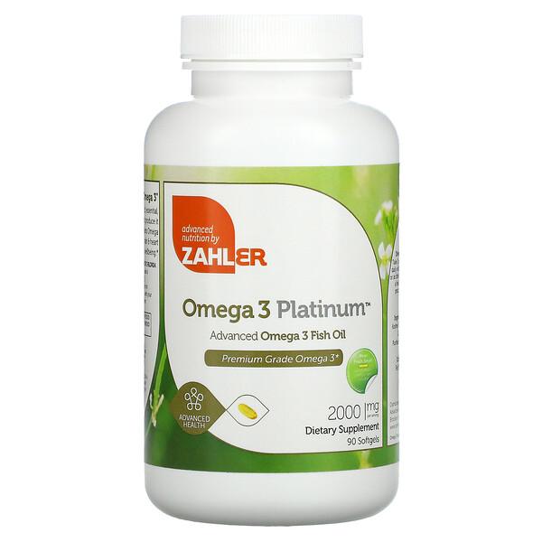 Omega 3 Platinum, Advanced Omega 3 Fish Oil, 1,000 mg, 90 Softgels