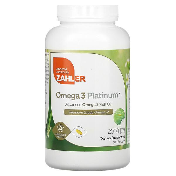Omega 3 Platinum, Advanced Omega 3 Fish Oil, 2,000 mg, 180 Softgels