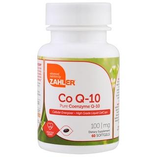 Zahler, CoQ-10, Pure Coenzyme Q-10, 100 mg, 60 Softgels