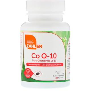 Zahler, CoQ-10, чистый кофермент Q-10, 100 мг, 120 мягких таблеток