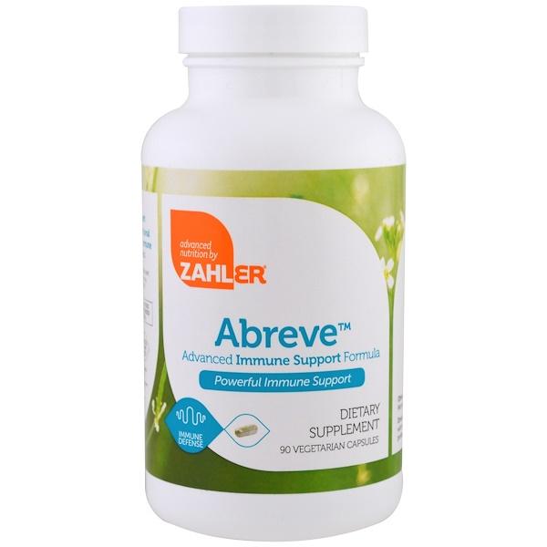 Zahler, Abreve, Advanced Immune System Support Formula, 90 Vegetarian Capsules (Discontinued Item)