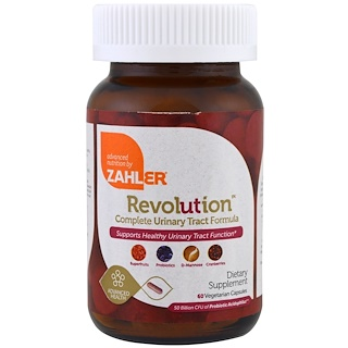 Zahler, Revolution, Complete Urinary Tract Formula, 60 Vegetarian Capsules