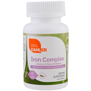 Залер, Iron Complex, Advanced Iron Complex, 100 Capsules отзывы покупателей