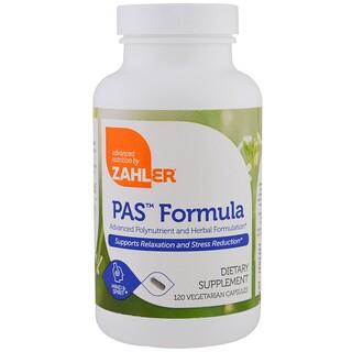Zahler, PAS Formula, formulação avançada de polinutrientes e plantas, 120 cápsulas vegetarianas