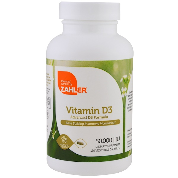 Zahler, Vitamin D3, 50,000 IU, 120 Vegetable Capsules