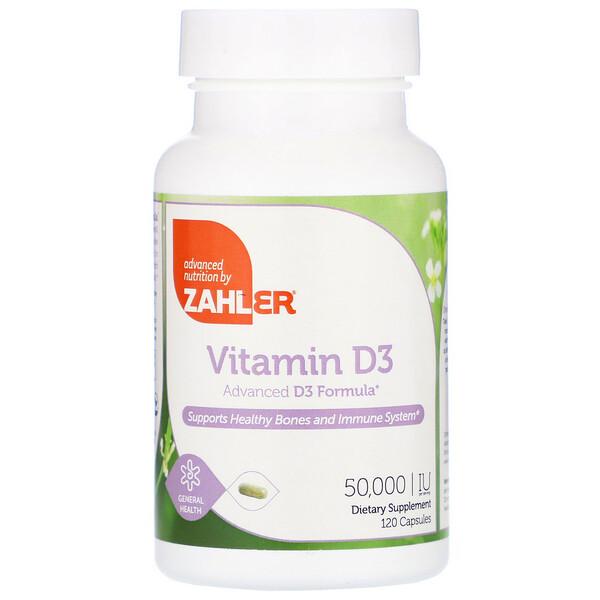 Vitamin D3, 50,000 IU, 120 Capsules