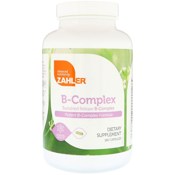 Zahler, B-Complex, Sustained Release B-Complex, 180 Capsules (Discontinued Item)