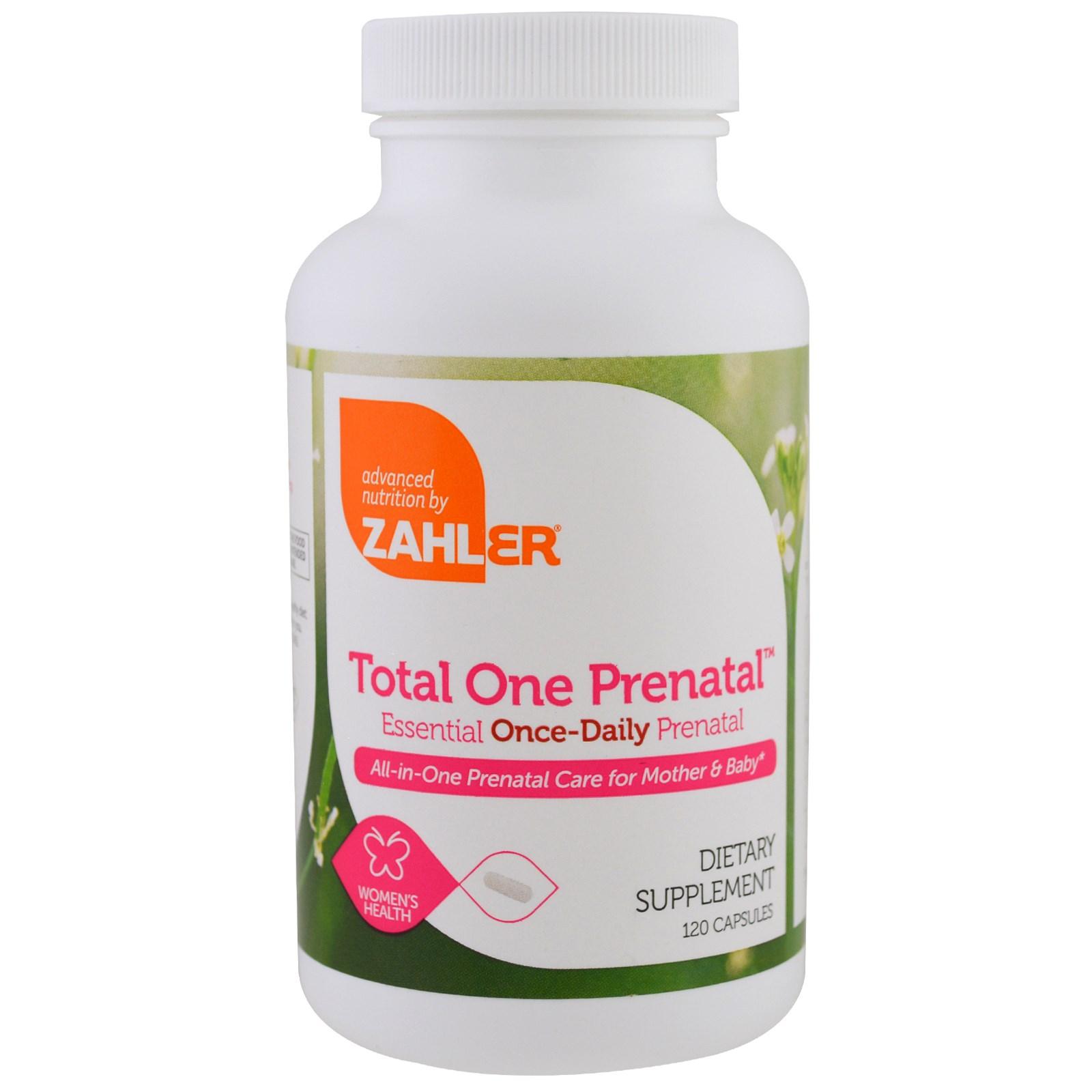 Zahler, Дородовое средство Total One, важнейшее дородовое средство, принимаемое 1 раз в день, 120 капсул