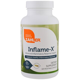 Zahler, Inflame-X, Advanced Inflammatory Response Support, 120 Vegetable Capsules