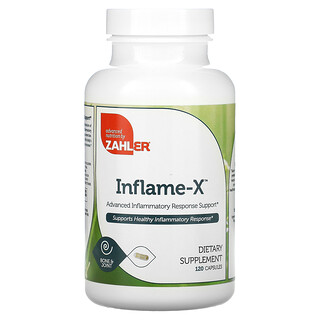 Zahler, Inflame-X, Advanced Inflammatory Response Support, 120 Capsules