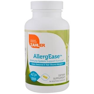 Zahler, AllergEase, Fórmula de Apoio ao Sistema Imune, 90 Cápsulas Vegetais