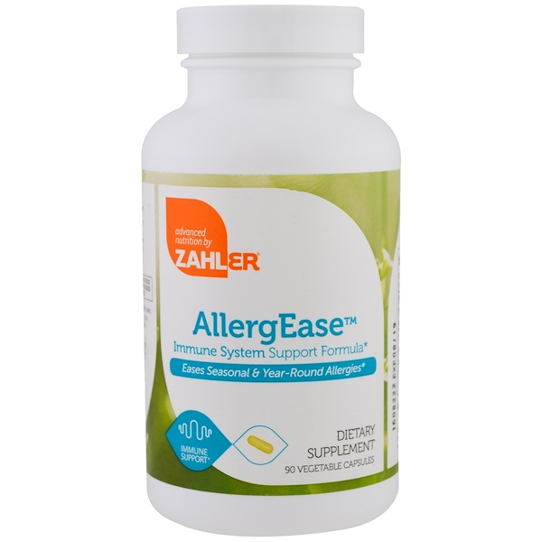 Zahler, AllergEase, Immune System Support Formula, 90 Vegetable Capsules (Discontinued Item)