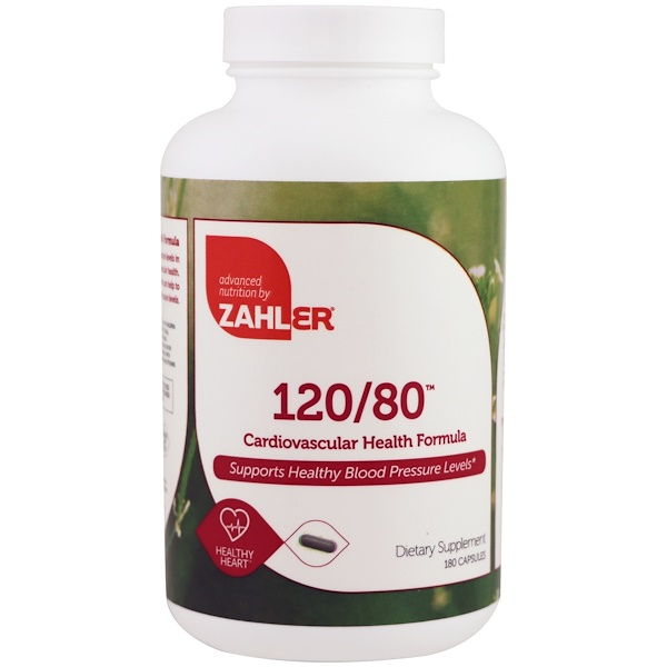 Zahler, 120/80, Cardiovascular Health Formula, 180 Capsules (Discontinued Item)