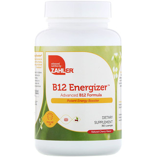 Zahler, B12 Energizer, Advanced B12 Formula, Natural Cherry Flavor, 360 Lozenges