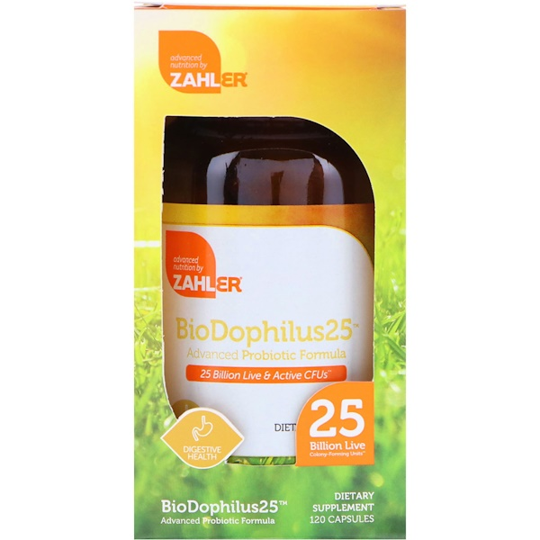 Zahler, BioDophilus25, Advanced Probiotic Formula, 25 Billion CFU, 120 Capsules (Discontinued Item)