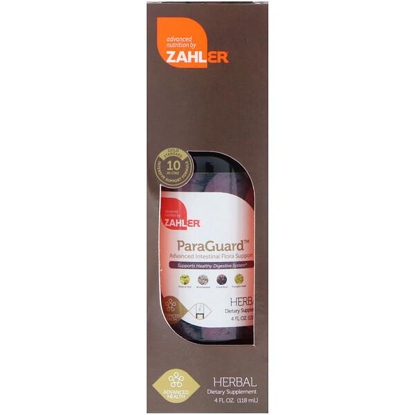 Zahler, ParaGuard, Advanced Intestinal Flora Support, 4 fl oz (118 ml) (Discontinued Item)