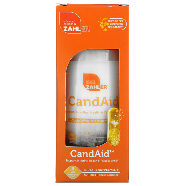 CandAid, Supports Intestinal Health & Yeast Balance, 60 Timed Release Capsules