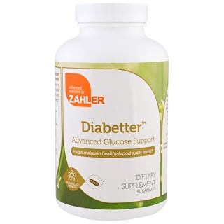 Zahler, Diabetter, Advanced Glucose Support, 180 Capsules