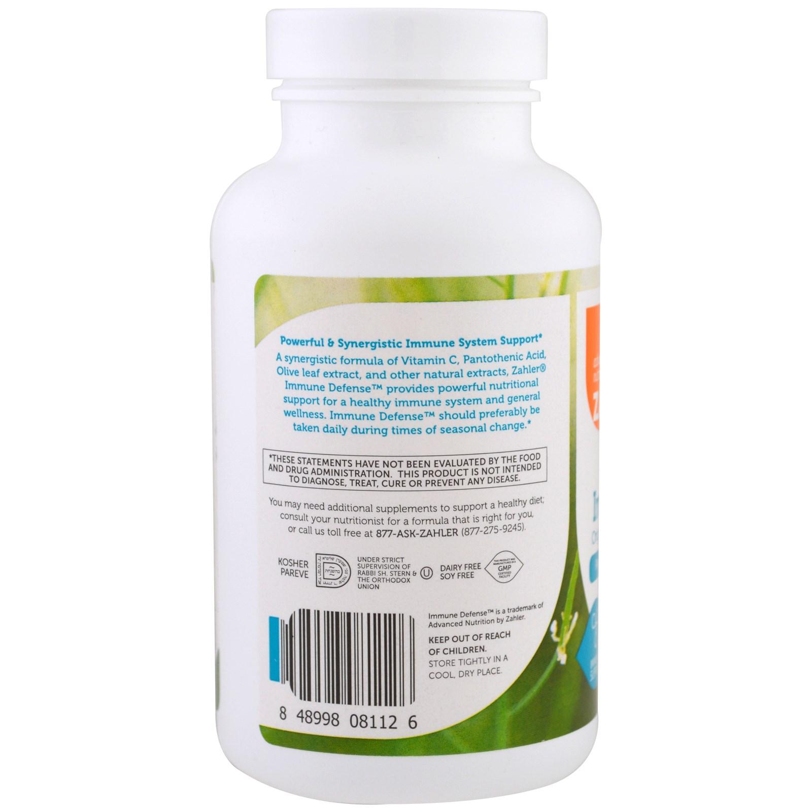 Zahler, Immune Defense, Original Immune System Support Formula, 120 Capsules