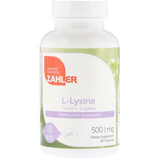 Zahler, L-Lysine, 500 mg, 60 Capsules