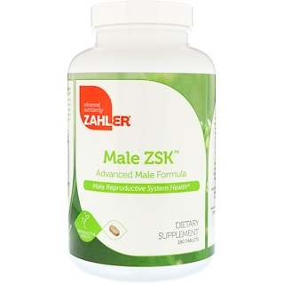 Zahler, Male ZSK, Advanced Male Formula, 180 Tablets