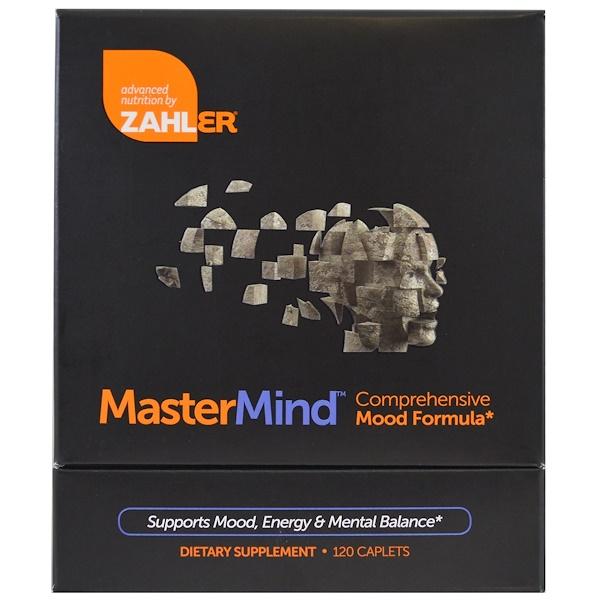 Zahler, MasterMind, Comprehensive Mood Formula , 120 Caplets (Discontinued Item)