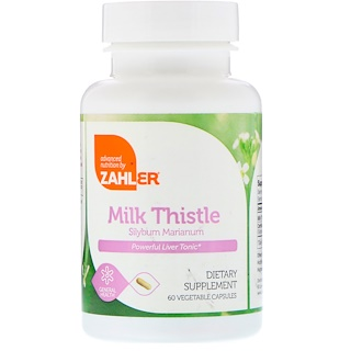 Zahler, Milk Thistle, Silybum Marianum, 60 Vegetable Capsules