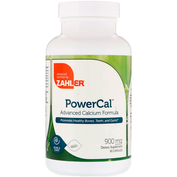 Zahler, PowerCal, Advanced Calcium Formula, 900 mg, 90 Capsules