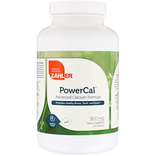 Zahler, PowerCal, Advanced Calcium Formula, 900 mg, 180 Capsules