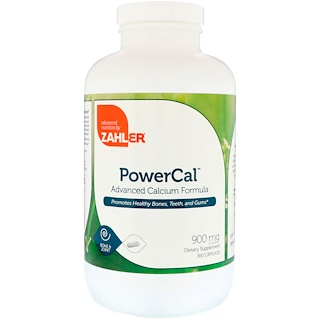 Zahler, PowerCal, Formule Avancée de Calcium, 900 mg, 360 capsules