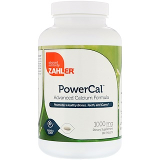 Zahler, PowerCal, Advanced Calcium Formula, 1000 mg, 180 Tablets
