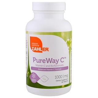 Zahler, PureWay C, улучшенный витамин C, 1000 мг, 90 таблеток
