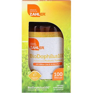 Zahler, Biodophilus100, Advanced Probiotic Formula, 100 Billion CFU, 30 Capsules