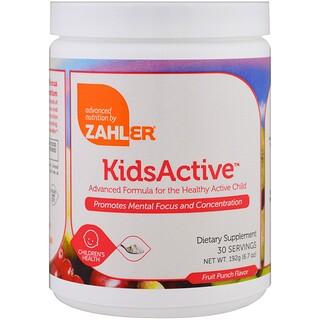 Zahler, キッズアクティブ、健康で活発なお子様のために進化したフォーミュラ、フルーツポンチ、6.7オンス (192 g)