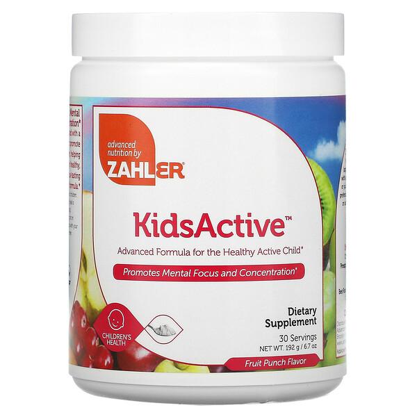 Kids Active, Fórmula Avançada para Crianças Ativas e Saudáveis, Ponche de Frutas, 192 g (6,7 oz)