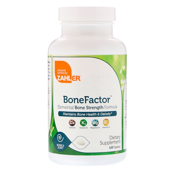 Zahler, BoneFactor, Elemental Bone Strength Formula, 120 Tablets