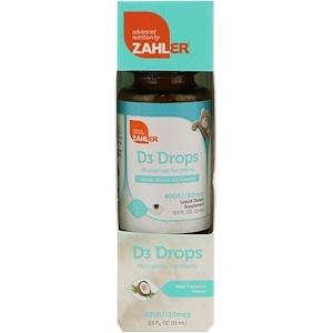 Залер, D3 Drops, Microdrops for Infants, Mild Coconut Flavor, 0.5 fl oz (15 ml) отзывы покупателей
