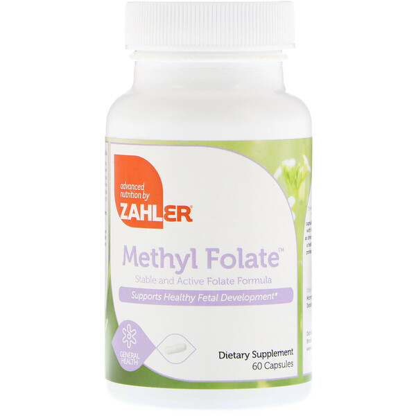 Zahler, Methyl Folate, 60 Capsules
