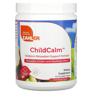 Zahler, ChildCalm, Children's Relaxation Support Formula, Fruit Punch, 60 Chewable Tablets