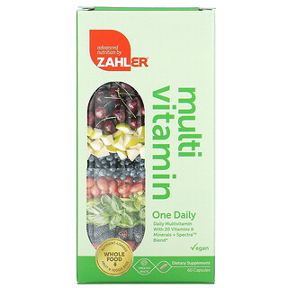 Zahler, One Daily, Daily Multivitamin with 20 Vitamins & Minerals + Spectra Blend, 60 Capsules