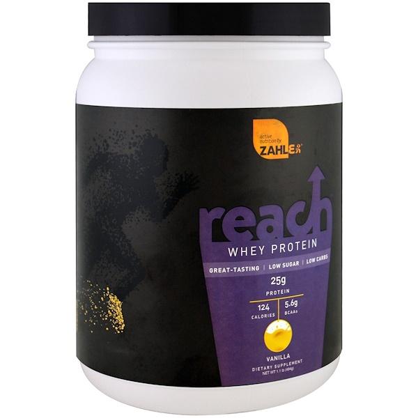 Zahler, Reach, Whey Protein, Vanilla , 1.1 lb (494 g)