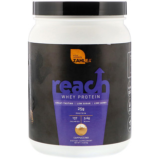 Zahler, Reach, Whey Protein, Cappuccino, 1.1 lb (514 g)