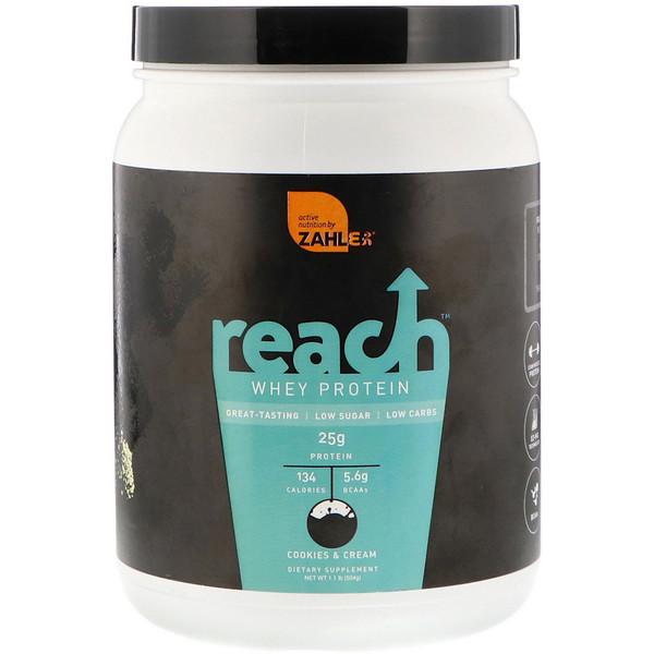 Zahler, Reach, Whey Protein, Cookies & Cream, 1.1 lb (504 g)