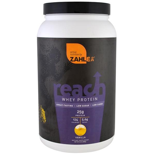 Zahler, Reach, Whey Protein, Vanilla , 2.2 lb (989 g)