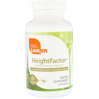 Zahler, HeightFactor, Healthy Hormone Support, 120 Capsules