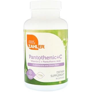 Zahler, Pantothenic+C, Vitamin C + Pantothenic Acid, 90 Capsules