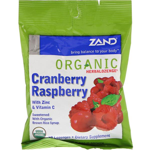Bio-Herbalozenge, Cranberry Himbeere, 18 Lutschtabletten
